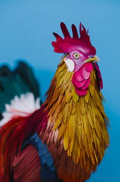I think I've just developed an instant crush. I've seen Diana Beltran Herrera's paper sculptures before. She's just brilliant. Hailing from Colombia, and apparently based in the UK, her work is just gorgeous as evidenced by this unreal rooster.