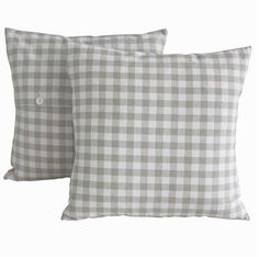 Neutral Check Cushion - £19.50 - Hicks and Hicks