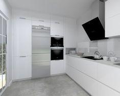Modelo Minos Laminado Seda Blanco | Encimera Neolith Cement Modern Kitchen Renovation, Kitchen Remodel, Luxury Kitchen Design, Interior Design Kitchen, Kitchen Cabinet Organization, Kitchen Cabinets, Lounge Diner Ideas, Home Kitchens, Home Furniture