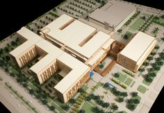 University Medical Center New Orleans - Concept Design - This billion dollar project replaced the beloved Charity Hospital. New Classical Architecture, Concrete Architecture, Sustainable Architecture, Architecture Design, Healthcare Architecture, Hospital Architecture, University Architecture, Downtown New Orleans, New Hospital