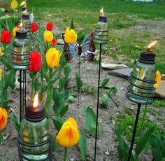 Re-purpose wedding mason jars for the house?