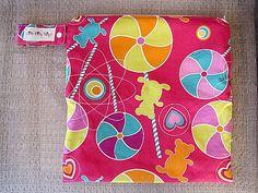 Medium Wet Bag  Michael Miller Lollipop by littlebittythings, $18.00