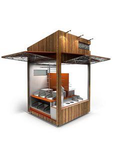 Pier / Seaport specialty kiosk design Kiosk Design, Retail Design, Store Design, Kiosk Store, Food Court Design, Coffee Shop Interior Design, 60s Furniture, Food Kiosk, New Project Ideas