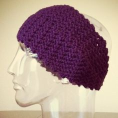 "SALE Headband w/ button closure Color: Deep violet. Width at widest:~5"". Length:~21"". Single button closure. Button color:Black. 100% acrylic. Handmade. Crocheted. Handmade Accessories Hair Accessories"