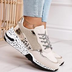 Tenis Casual, Casual Sneakers, Casual Shoes, Shoes Sneakers, Ladies Sneakers, Colorful Sneakers, Lace Up Shoes, Black Shoes, Leopard Print Sneakers