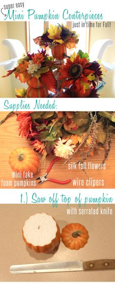 Crafted Love: DIY | Simple 2-step Fall Centerpiece
