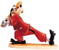 """How to Play Baseball - Goofy - """"Batter Up"""" Plussing: Bat: Real wood.  Retired 04/01  Limited Edition production."""