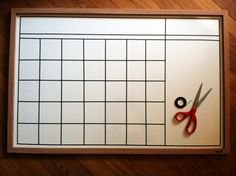 DIY whiteboard Calendar.  But so many other possibilities, I'm thinking chore chart.