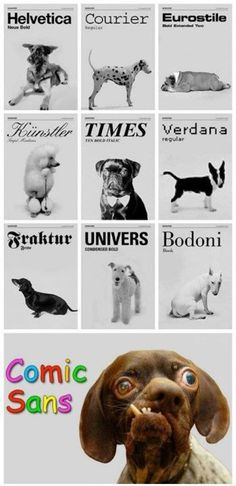 fonts like a dogs