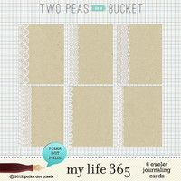 my life 365 - eyelet journaling cards