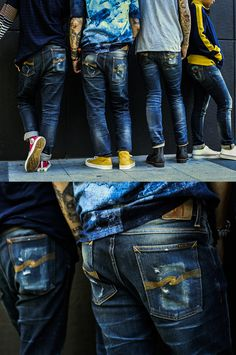 Jeans Fashion, Fashion Men, Fashion Outfits, Edwin Jeans, Leather Jeans, Nudie Jeans, Raw Denim, Bangkok Thailand, Historical Clothing