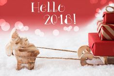 Hello 2018 Merry Christmas And Happy New Year Welcome 2018