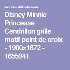 Disney Minnie Princesse Cendrillon grille motif point de croix - 1900x1872 - 1655041
