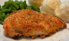 Ranch Parmesan Chicken - this is great by itself or topped with marinara sauce and mozzarella cheese.  I make it all the time.