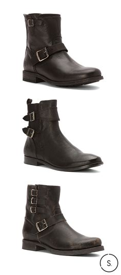 A style staple with an edgy kick—black ankle boots by The Frye Company. Get FREE SHIPPING on your pair today!