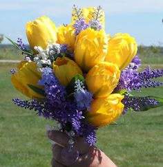 lilac bouquet yellow tulip - Google Search