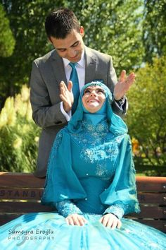 Hijab Bride, Muslim Brides, Muslim Couples, Islam Marriage, Modest Wedding Dresses, Love And Marriage, Photo Poses, Bride Groom