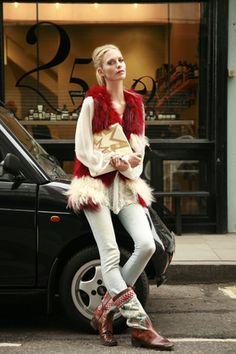 waistcoat Zadig & Voltaire, bag Miu Miu, jeans Diesel, marrocan vintage boots