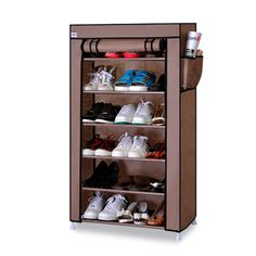 Thick Non-woven Cloth Multi-layers Shoe Rack Dustproof Waterproof Creative Shoes Cabinet Shoes Storage Rack DIY Shoes Organizer Shoe Rack Hallway, Shoe Shelf In Closet, Shoe Shelf Diy, Shoe Shelves, Wardrobe Closet, Diy Storage Rack, Shoe Rack Organization, Shoe Storage Cabinet, Shoe Organizer
