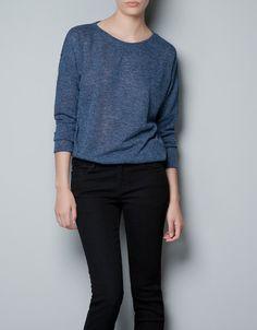 $35.90 FINE KNIT SWEATER - Knitwear - TRF - ZARA United States