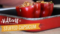 Healthy Stuffed Peppers/Capsicum Recipe | Kittens Kitchen