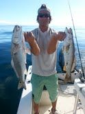 Big gray trout and redfish today jigging stingsilvers on top of an artificial reef