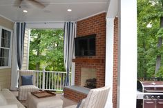 Add a little more privacy to your outdoor hideway with these curtains. www.lanebuilt.com/blog