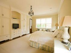 built in cabinets in master bedroom
