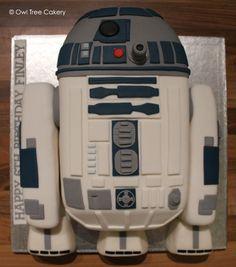 An impressive R2D2 cake celebrates Finley's 6th birthday!