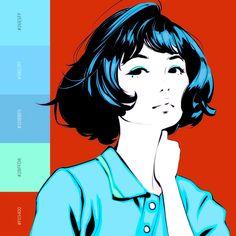 Kuvshinov Ilya is creating Illustrations and Comics Sketch Inspiration, Character Inspiration, Portrait Illustration, Graphic Illustration, Female Character Design, Character Art, Persona, Kuvshinov Ilya, Japanese Art Styles