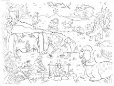 Dinosaur Adventure Colouring Poster - Giant Size: 100 x 70 cm Coloring Apps, Coloring For Kids, Colouring Pages, Adult Coloring, Christmas Unicorn, Unicorn Halloween, Halloween Books, Kids Poster, All Poster