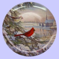 Birds of the Season: Cardinals in Winter - Knowles - Artist: Sam Timm