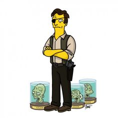 The Governor / The Walking Dead Gets Simpsonized in Eerily Good Fan Art | Underwire | Wired.com