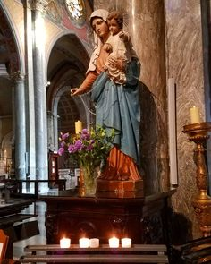 Why not ask Mary to pray for you today? In the Chiesa Nuova last week in Rome. Mass Readings, James Martin, Rome, Pray, Bible, Instagram Posts, Painting, Biblia, Painting Art
