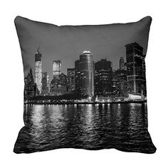 Night Photo of the New York City Skyline Landscape Throw Pillow Case Home Decor Pillowcase Cushion Cover 18x18inches Cushion Case http://www.amazon.com/dp/B013FWMWF0/ref=cm_sw_r_pi_dp_nuJQwb015159A