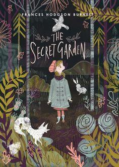 """Copertina realizzata da Karl James Mountford per il libro """"Il giardino segreto"""""""