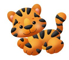 BABY KITTY OR TIGER CLIP ART
