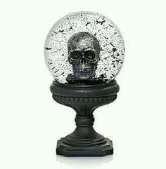 Skull snow globe