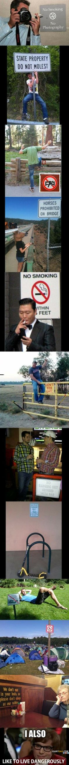 I Also Like To Live Dangerously (Compilation), click the link to view more funny pictures !
