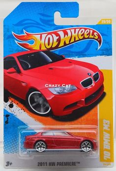 Hot Wheels 2011 BMW M3  #28 2011 HW PREMIERE