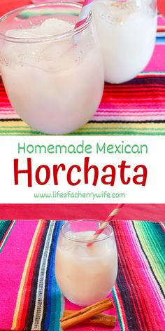 homemade mexican horchata Horchata Drink, Mexican Horchata, Horchata Recipe, Mexican Drinks, Mexican Food Recipes, Mexican Desserts, Mexican Meals, Pork Recipes, Mexican Recipes