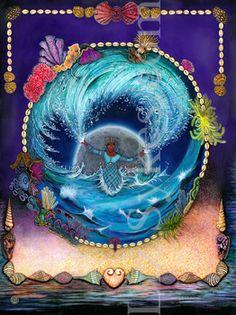 Yemaja: Mythical Goddess of the Ocean! Yoruba Orishas, Saint Gabriel, Fertility, Snow Globes, Birthday Cake, Ocean, Cuba, Brazil