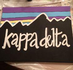 Kappa Delta -Patagonia theme canvas #kappadelta