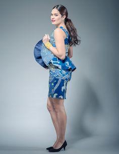 Les femmes ankara filles sassa bleu mix impression par Sosomeshop
