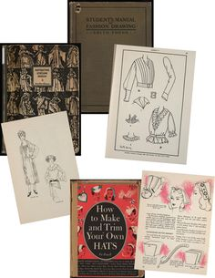 Digital books They have digitized and made available vintage titles all about sewing, costuming, and millinery.