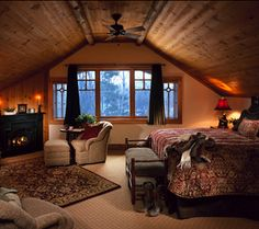 from Whiteface Lodge in Lake Placid.  Adirondack inspiration for the Master Bedroom