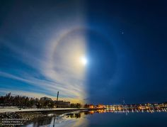 Sun and Moon align to create stunning two-face ice halo (Gizmodo)
