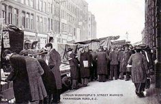 Street Market, Farringdon Road, London. #postcards