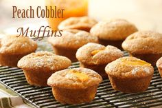 Peach Cobbler Muffins! Nice to wake your family up with these beauties on sunday!