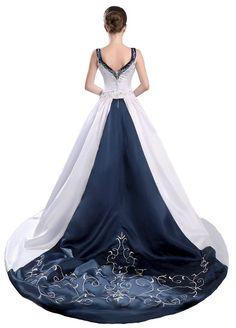 FairOnly Satin V Neck Wedding Dress Bridal Gown Custom Size 6 8 10 12 14 16++
